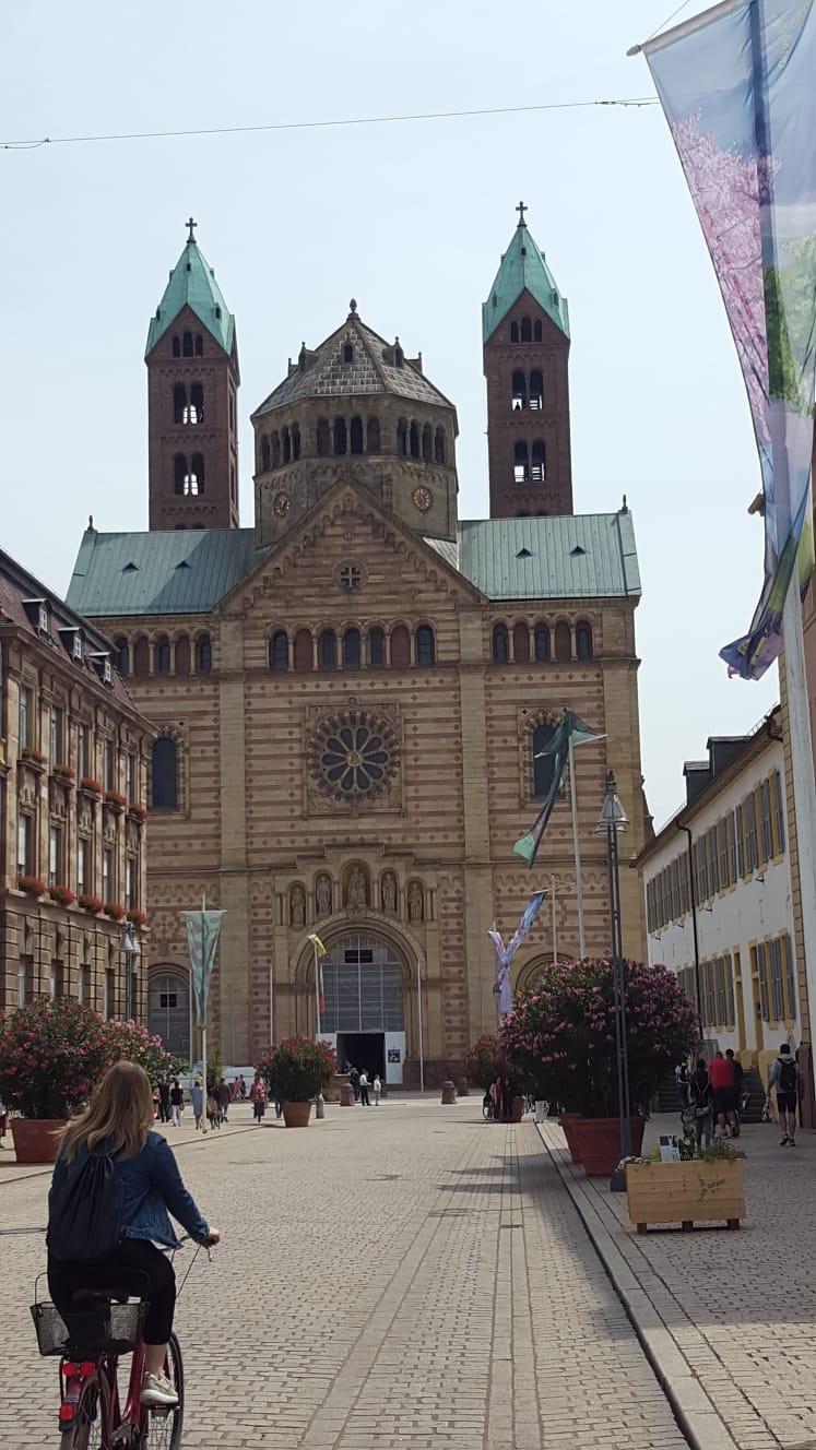 Der Dom lässt uns nicht los. Er liegt immer auf unserem Weg in die Stadt. Deshalb war es auch nicht verwunderlich, dass wir hoch hinaus wollten. Auf den Süd-West-Turm vorbei an dem renovierten Kaisersaal. 340 Stufen hinauf.
