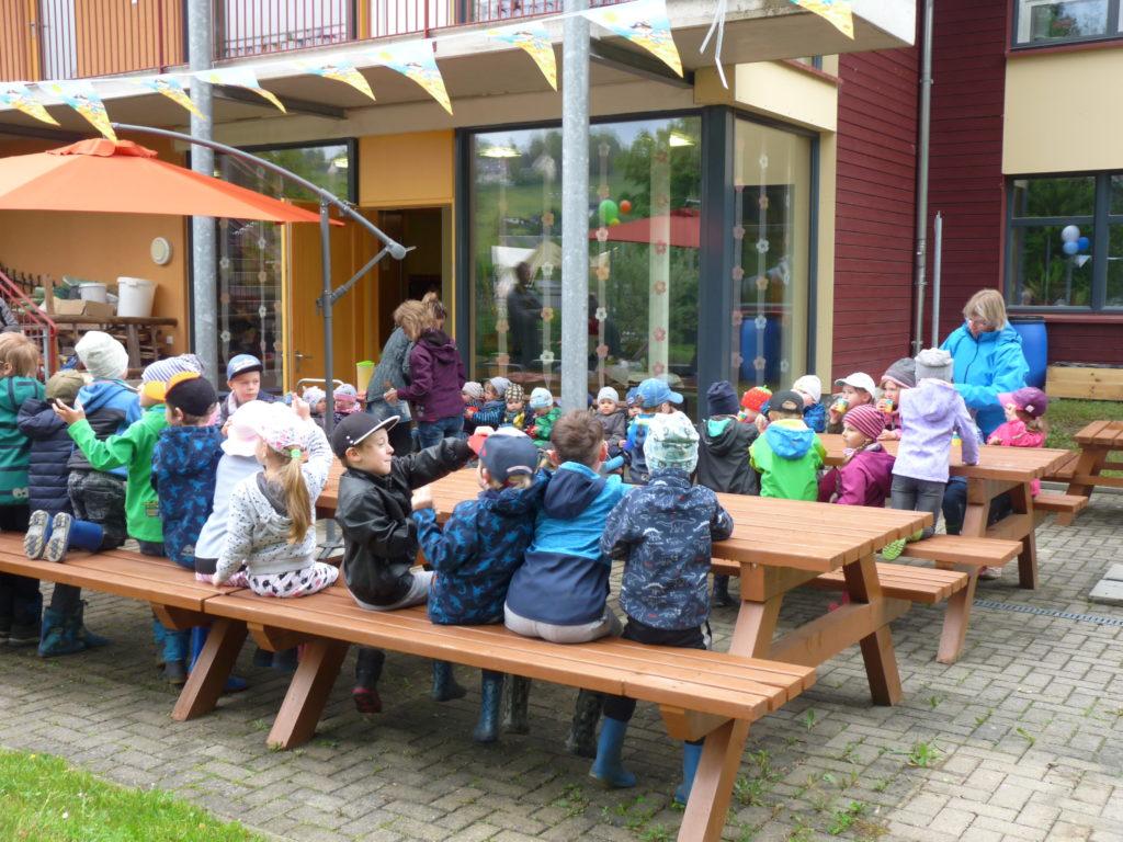 Eröffnung der neuen Kletteranlage im Naturkindergarten Sonnenschein in Pobershau am 05.06.2020