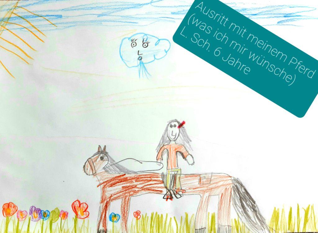 Ausritt mit meinem Pferd (was ich mir wünsche) L. Sch. 6 Jahre