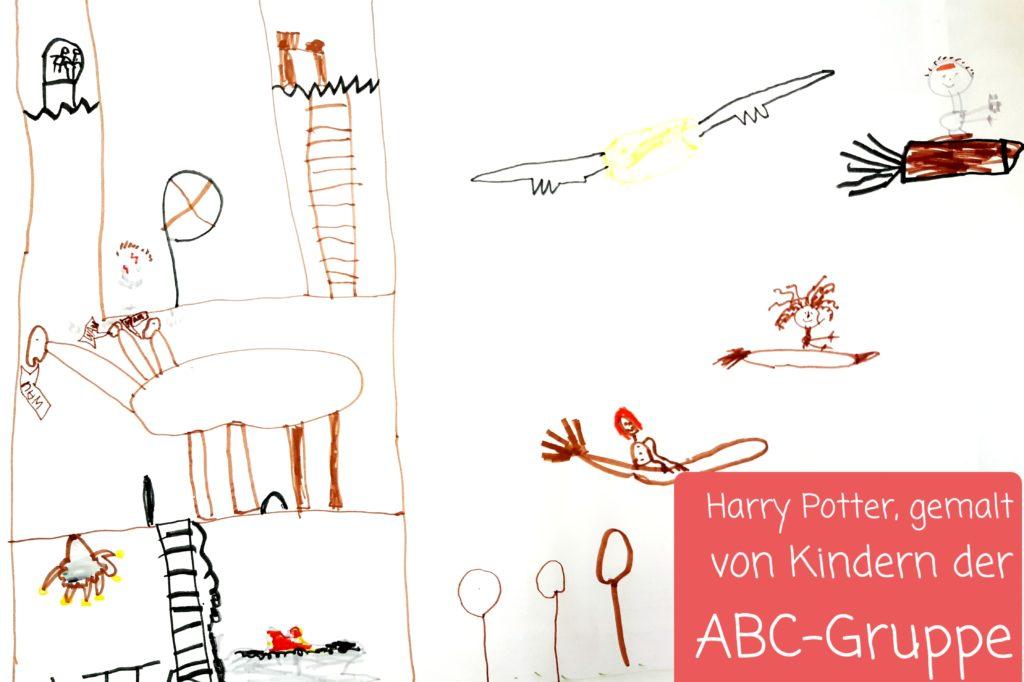 Harry Potter, gemalt von Kindern der ABC-Gruppe 2021.